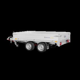 Remorque benne 2700 kg (276x150) Double - SARIS