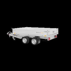 Remorque tribenne 2700 kg (276x170) Double - SARIS