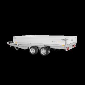 Remorque tribenne 2700 kg (356x184) Double - SARIS