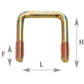 Bride tube carré 40X40 - RULQUIN